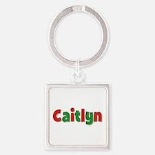 Caitlyn Christmas Square Keychain
