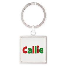 Callie Christmas Square Keychain