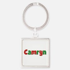 Camryn Christmas Square Keychain