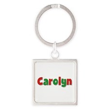 Carolyn Christmas Square Keychain