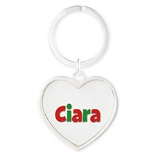 Ciara Christmas Heart Keychain