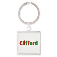 Clifford Christmas Square Keychain