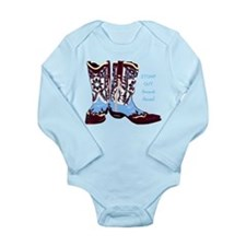 STOMP OUT Animal Abuse! Long Sleeve Infant Bodysui