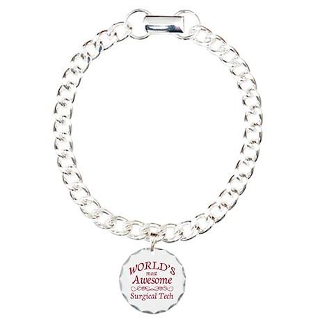 Awesome Surgical Tech Charm Bracelet, One Charm