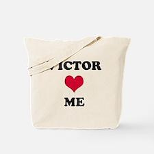 Victor Loves Me Tote Bag