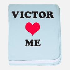 Victor Loves Me baby blanket