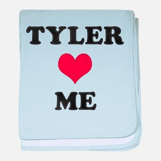 Tyler Loves Me baby blanket