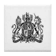 Lion and Unicorn Crest Tile Coaster