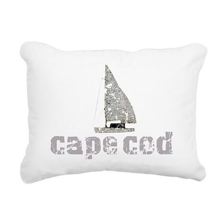 Cape Cod Sailboat Rectangular Canvas Pillow