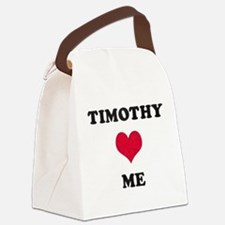 Timothy Loves Me Canvas Lunch Bag