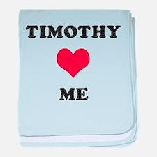 Timothy Loves Me baby blanket