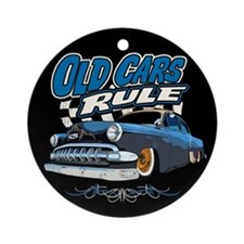 Old Cars Rule - Low Ornament (Round)