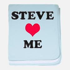 Steve Loves Me baby blanket
