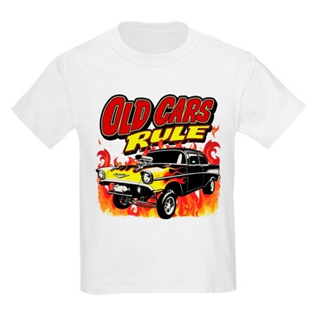 Old Cars Rule - Gasser Kids Light T-Shirt