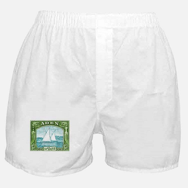1937 Aden Dhow Boat Postage Stamp Boxer Shorts