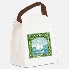 1937 Aden Dhow Boat Postage Stamp Canvas Lunch Bag