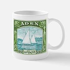 1937 Aden Dhow Boat Postage Stamp Mug
