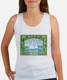 1937 Aden Dhow Boat Postage Stamp Women's Tank Top