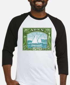 1937 Aden Dhow Boat Postage Stamp Baseball Jersey