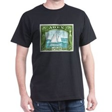 1937 Aden Dhow Boat Postage Stamp T-Shirt