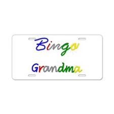Bingo Grandma Aluminum License Plate