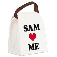 Sam Loves Me Canvas Lunch Bag