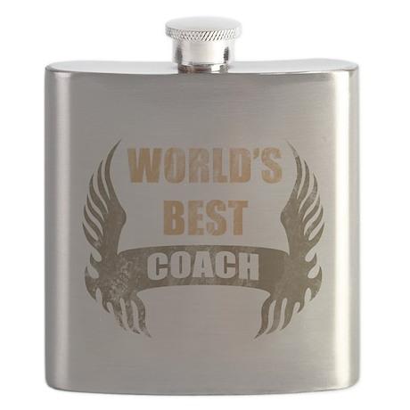 World's Best Coach (Wings) Flask