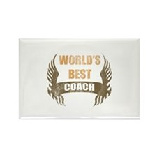 World's Best Coach (Wings) Rectangle Magnet