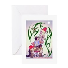 SANTA_TATTOO Greeting Cards