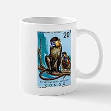 1971 Congo Moustached Monkeys Postage Stamp Mug
