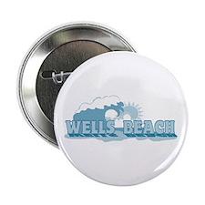 "Wells Beach MA - Beach Design. 2.25"" Button"
