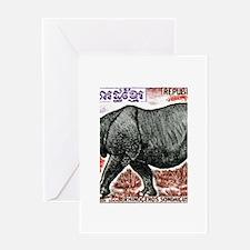 1972 Cambodia Javan Rhino Postage Stamp Greeting C