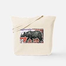 1972 Cambodia Javan Rhino Postage Stamp Tote Bag