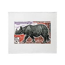 1972 Cambodia Javan Rhino Postage Stamp Stadium B