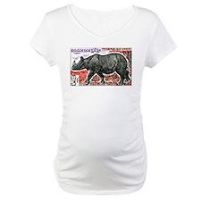 1972 Cambodia Javan Rhino Postage Stamp Shirt