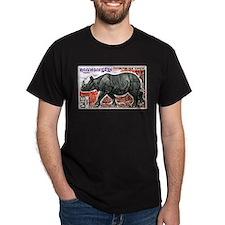 1972 Cambodia Javan Rhino Postage Stamp T-Shirt