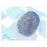 Biometric artwork Wrapped Canvas Art