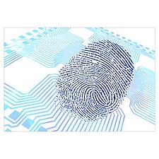 Biometric fingerprint scan, artwork