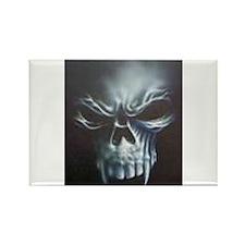 Skull 2 Rectangle Magnet