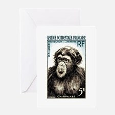 1955 French West Africa Chimp Postage Stamp Greeti