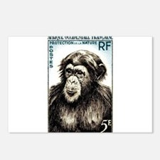 1955 French West Africa Chimp Postage Stamp Postca
