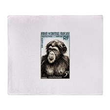 1955 French West Africa Chimp Postage Stamp Stadi