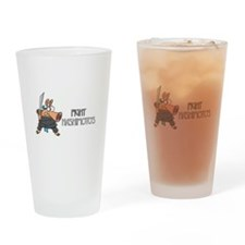 Funny Fighting Drinking Glass