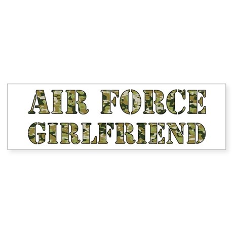 Camo Girlfriend Bumper Sticker