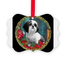 Cute Shih tzu art Ornament