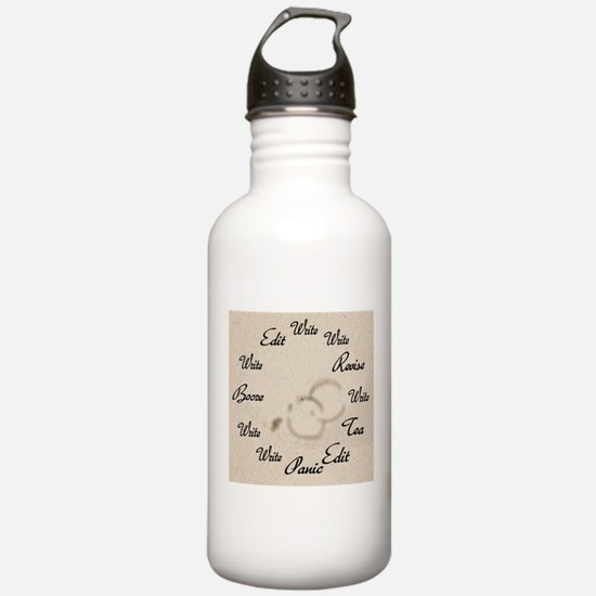 Writer's Clock Water Bottle