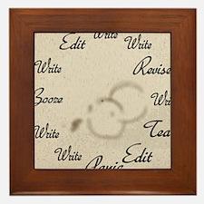 Writer's Clock Framed Tile