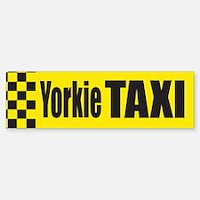 Yorkie Taxi Bumper Bumper Bumper Sticker