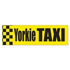 Yorkie Taxi Bumper Bumper Sticker