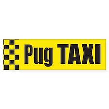 Pug Taxi Bumper Bumper Sticker